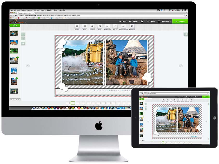 online fotoknihy Tigris